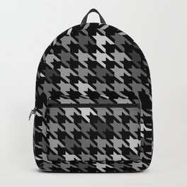 Houndstooth Black and White Backpack