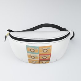 Retro Vintage Camera Gift Pop Art Photography Gift Fanny Pack