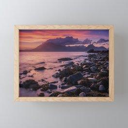 Sunset Over the Cuillin II Framed Mini Art Print
