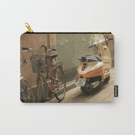 Bikes and a Scooter on Old Road Carry-All Pouch
