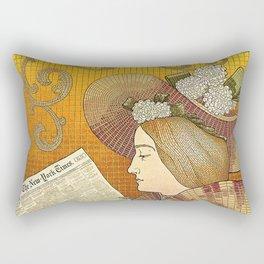 Detail of an Advertisement Rectangular Pillow