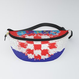 Extruded flag of Croatia Fanny Pack