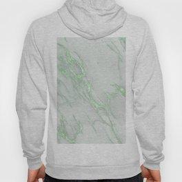 Marble Love Green Metallic Hoody