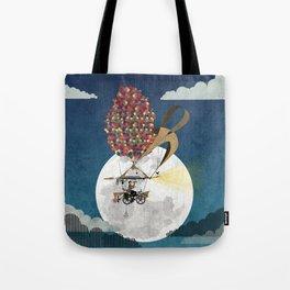 Flying Bicycle Tote Bag
