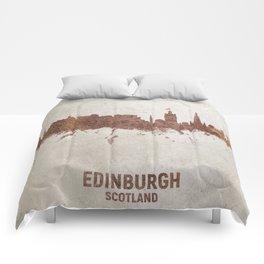 Edinburgh Scotland Rust Skyline Comforters