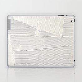 Relief [1]: an abstract, textured piece in white by Alyssa Hamilton Art Laptop & iPad Skin