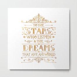 To the Stars - White Metal Print