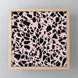 Terrazzo Spot Black on Blush Framed Mini Art Print