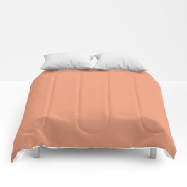 Designer Color of the Day - Shell Coral Peach Orange Comforters
