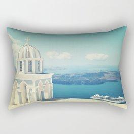 Peaceful Paradise aka Santorini Rectangular Pillow