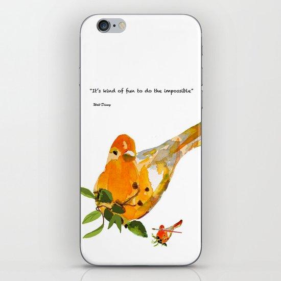 Watercolor Bird iPhone & iPod Skin
