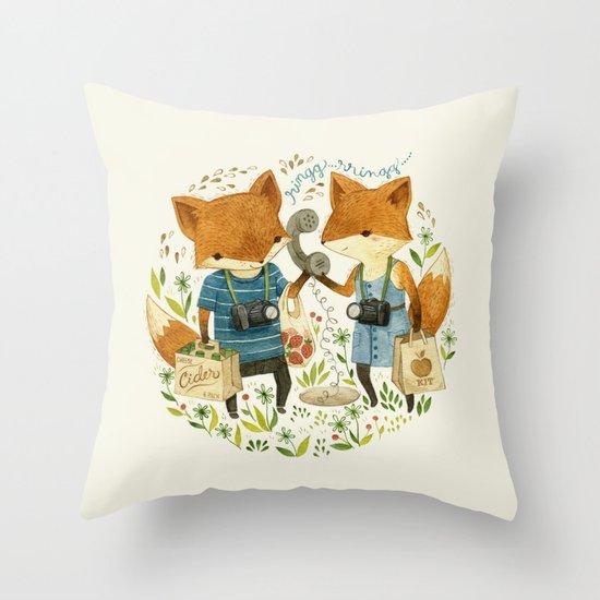Fox Friends Throw Pillow