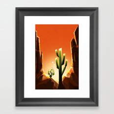 A prickly pair in love Framed Art Print