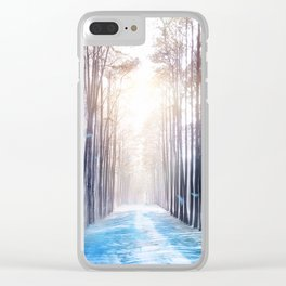 Feather Dance In Winter Clear iPhone Case