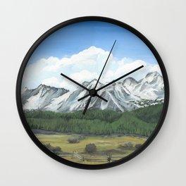 Sawtooth Mountain Landscape Art Wall Clock