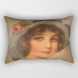 Vintage Lady 02 Rectangular Pillow