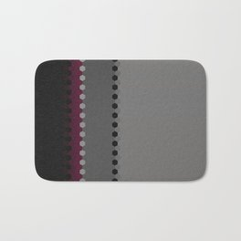 Modern Burgundy Grey Black Stripe Dot Pattern Badematte