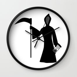 New Year Icon Father Time Wall Clock
