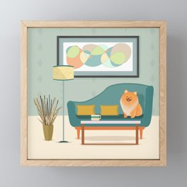 A Pomeranian Makes A House A Home Framed Mini Art Print