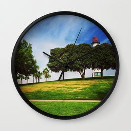 Lighthouse at Shoreline Village in Downtown Long Beach, California Wall Clock