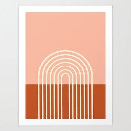 Terracota Pastel Art Print