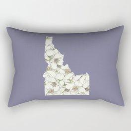 Idaho in Flowers Rectangular Pillow