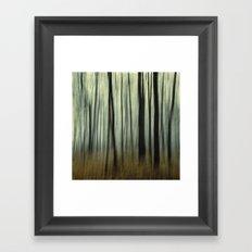 blurred woods Framed Art Print