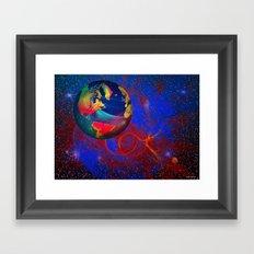 Fractal World Framed Art Print