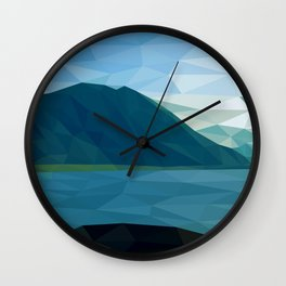 Distant Mountains Wall Clock