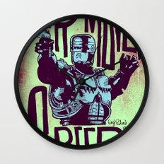 Your move, creep. // ROBOCOP Wall Clock