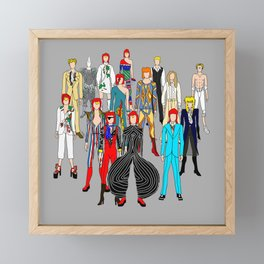 Gray Heroes Group Fashion Outfits Framed Mini Art Print