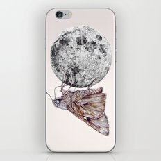 In which a moth is enticed by the light of the moon iPhone & iPod Skin