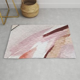 Away [2]: an abstract mixed media piece in pinks and reds Rug