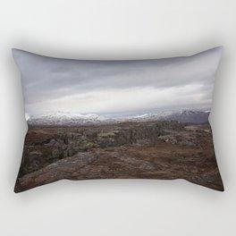 Continental drift - Thingvellir National Park Rectangular Pillow