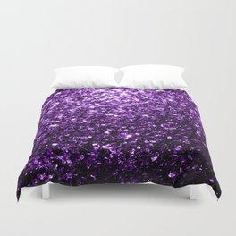 Beautiful Dark Purple glitter sparkles Duvet Cover
