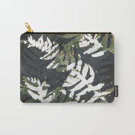Wild flowers black - botanical print Carry-All Pouch