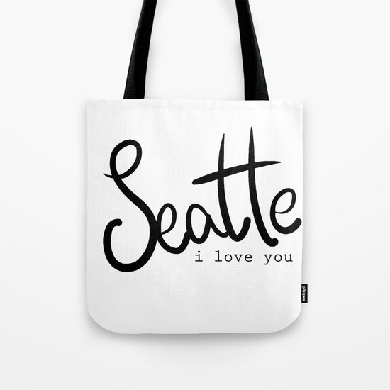 Seattle i love you  Tote Bag