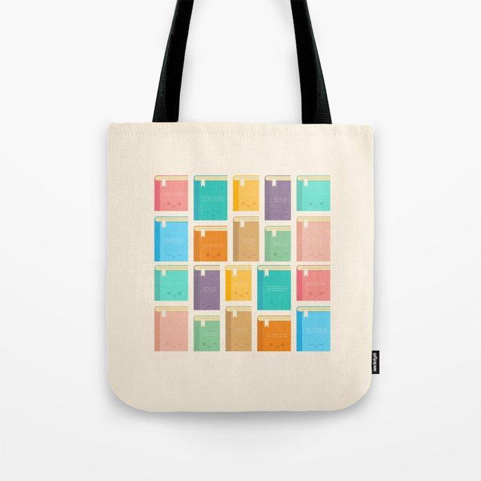 Cute Kawaii Books Tote Bag