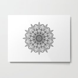 Mandala Round Metal Print