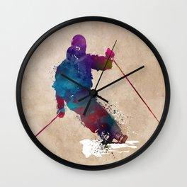 alpine skiing #ski #skiing #sport Wall Clock