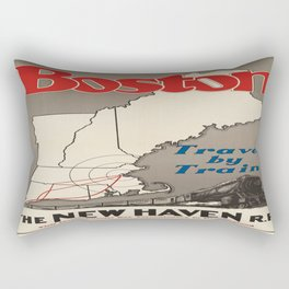 Vintage poster - Boston Rectangular Pillow