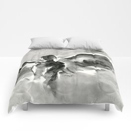 Abstract Angel No.0107 by Kathy Morton Stanion Comforters