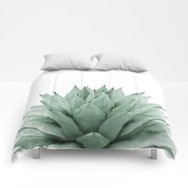 Agave Green Summer Vibes #1 #tropical #decor #art #society6 Comforters