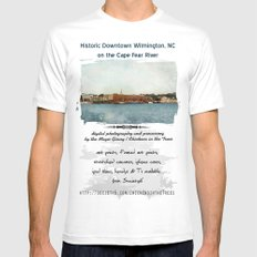 Wilmington, NC on the Cape Fear River MEDIUM White Mens Fitted Tee