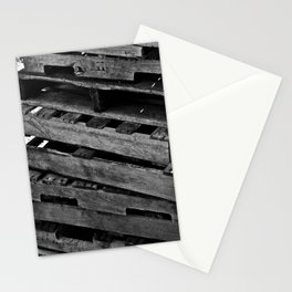 Abstract Wooden Pallets Stationery Cards