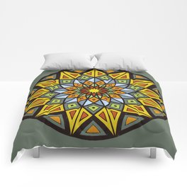 Mandala #1 Comforters