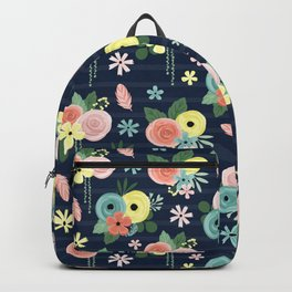 Boho Bohemian Garden Party Floral Backpack