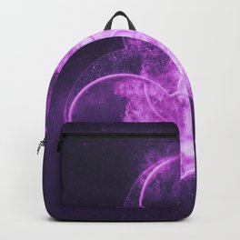 Biohazard sign. Biohazard symbol. Abstract night sky background Backpack