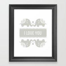 Elephant Love Framed Art Print