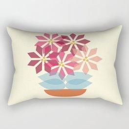 Poinsettia Pot Rectangular Pillow